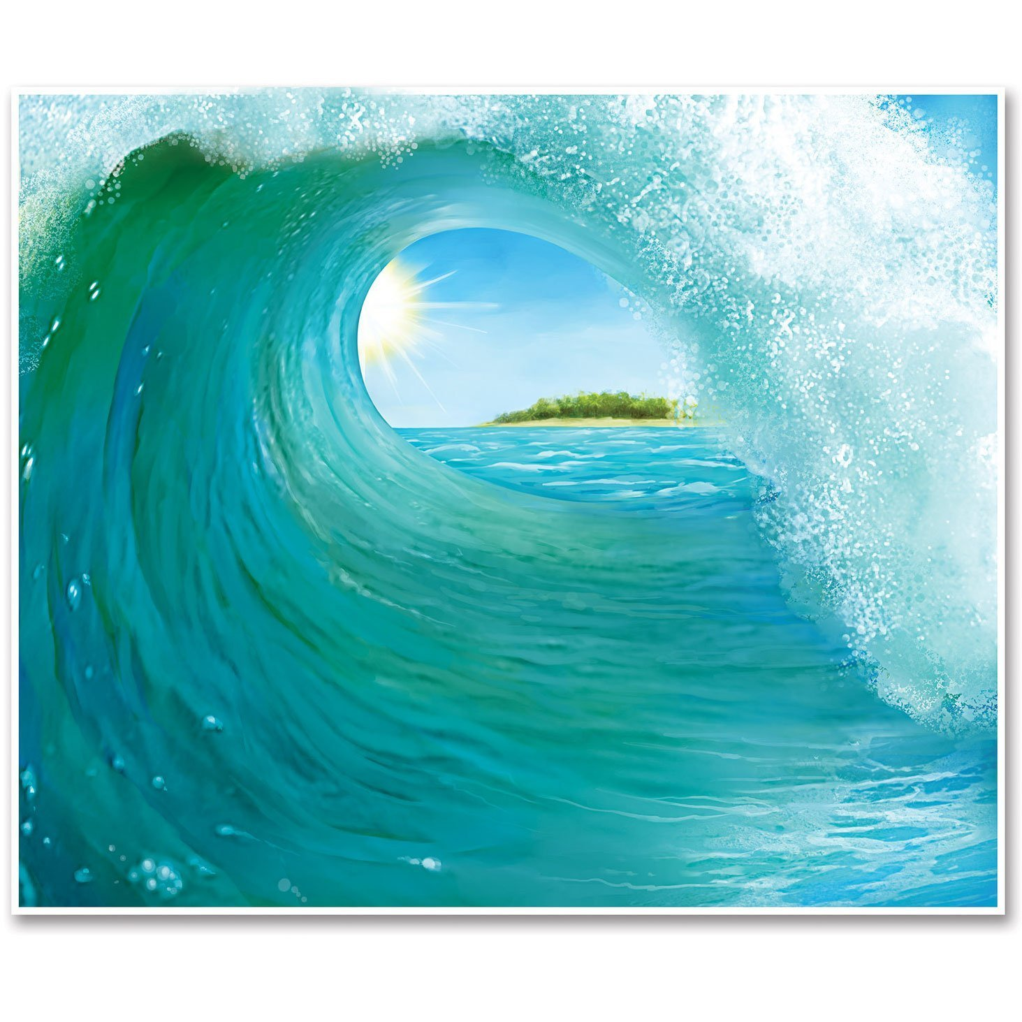 Amazon beistle 52151 surf wave insta mural 5 feet by 6 feet amazon beistle 52151 surf wave insta mural 5 feet by 6 feet kitchen dining amipublicfo Choice Image