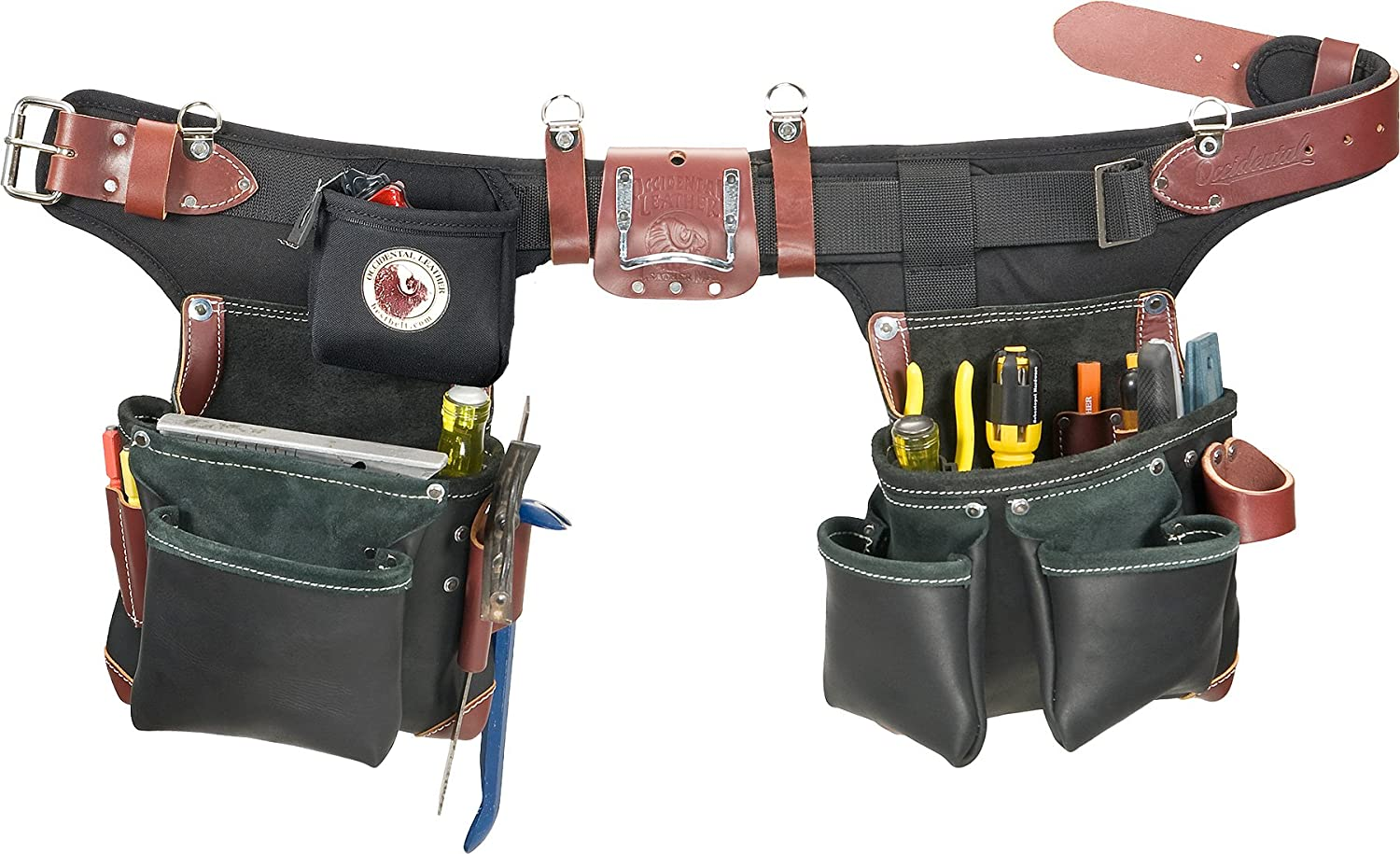 Occidental Leather B9588 Adjust-to-Fit Green Building Tool Belt Set ...