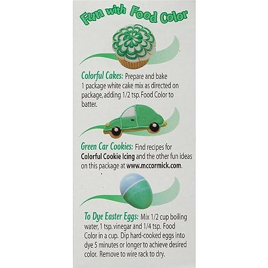 Amazon Com Mccormick Green Food Color 1 Fl Oz Grocery Gourmet