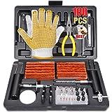 TECCPO Tire Repair Kit, 100Pcs Heavy Duty Tire Plug Kit for Car, Truck, RV, ATV, Tractor, Trailer, Motorcycle-Universal…