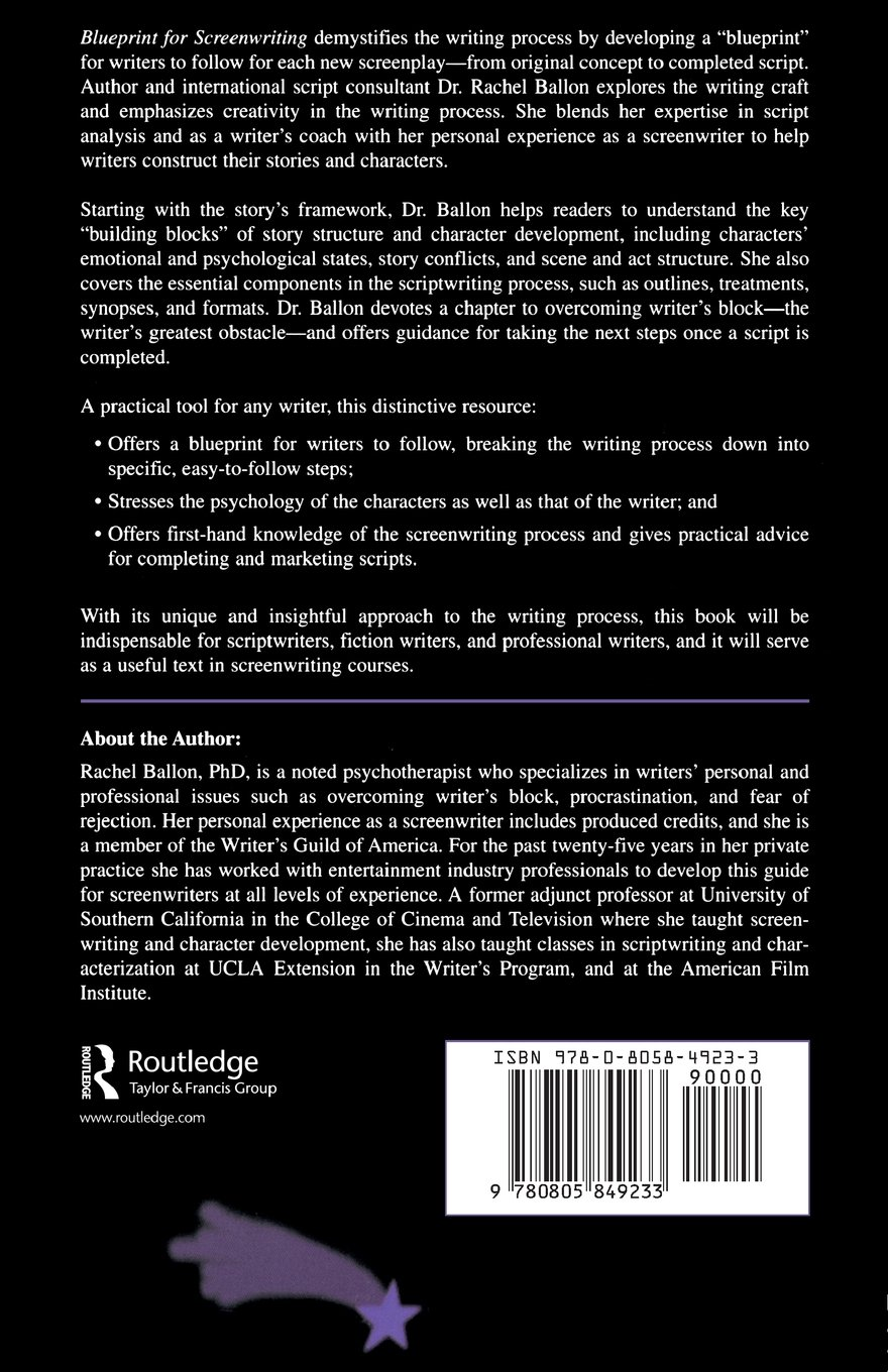 Blueprint for Screenwriting: A Complete Writer's Guide to Story Structure and Character Development by Brand: Routledge