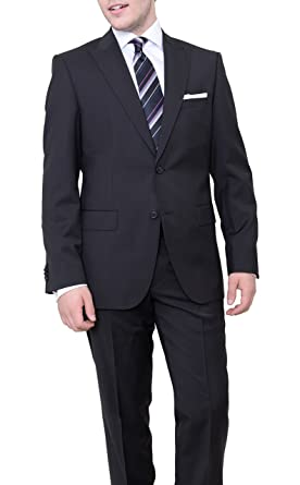 83d5c2764 Image Unavailable. Image not available for. Color: Hugo Boss  Thefordham/central Black Tonal Striped Wool Suit ...