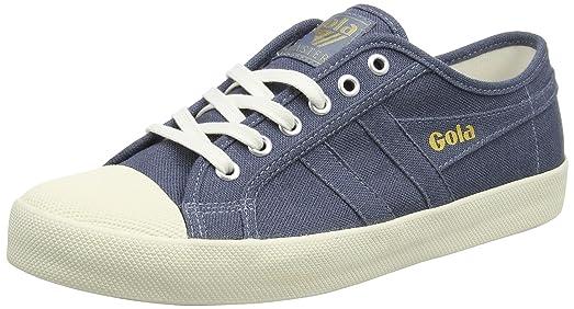 Gola Herren Coaster Linen Sneakers, Blau (Slate Blue/Off White Ew Blue), 42 EU