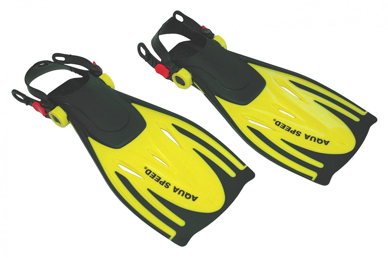 Amarillo Azul Esn/órquel Piscina Alquiler Mar Playa UE 27-45 + UP/®-SPLASH Gorro de ba/ño Aqua Speed WOMBAT Aletas de Buceo