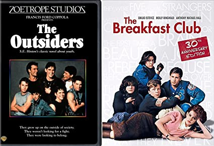 amazon com the breakfast club the outsiders dvd 80 s movie bundle