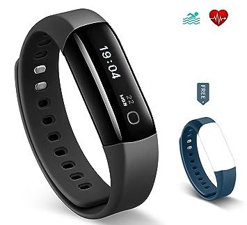 56150bd754e9 HolyHigh ❤Precio de Costo❤Pulsera de Actividad Inteligente HR Reloj  Inteligente Monitor de Ritmo Cardíaco Seguimiento de Actividad IP68 ...