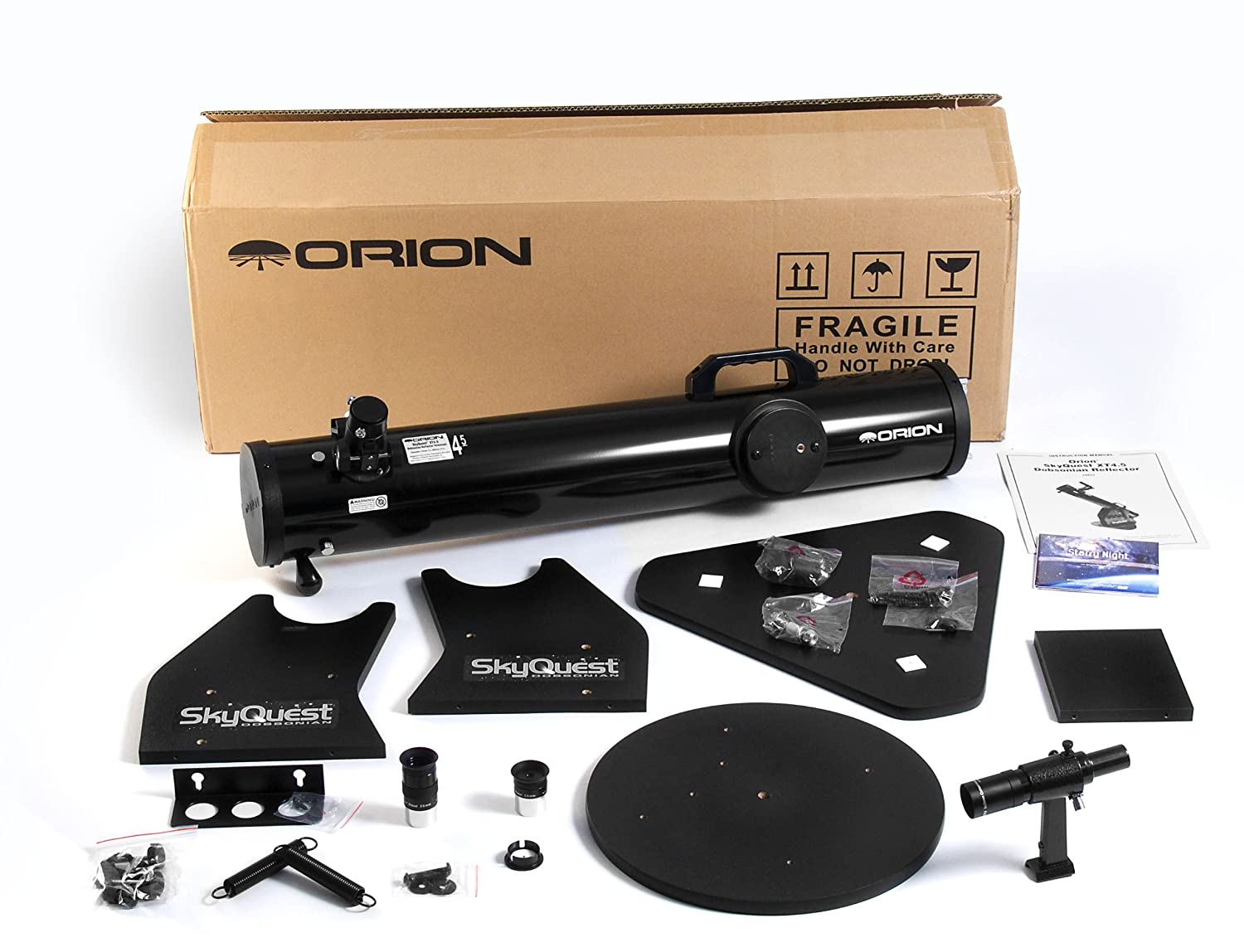 Orion 10014e 17x Black Reflector Telescopes 88.9 cm, 8/kg, 11.4/cm in Metal and Wood