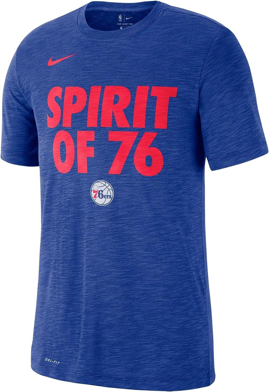 Heathered Royal Nike Philadelphia 76ers Essential Team Attitude Performance T-Shirt