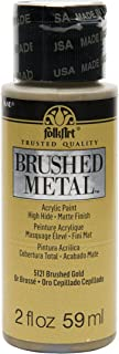 product image for FolkArt Brushed Metal Paint in Assorted Colors (2 oz), Gold
