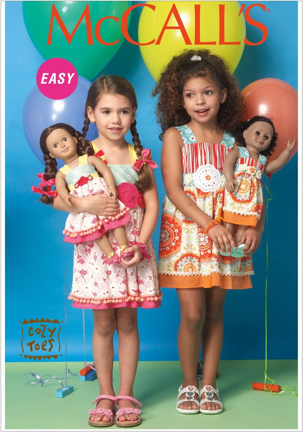 McCalls Patterns M7146 Childrens//Girls//18 Dolls Dresses Sewing Template 6-7-8 CL