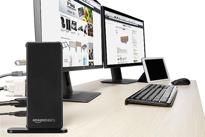 AmazonBasics - Base de conexión universal para ordenador portátil, USB 3.0: Amazon.es: Informática