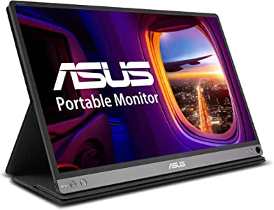 "ASUS ZenScreen MB16AC 15.6"" Full HD IPS USB Type-C Portable Eye Care Monitor,Black"