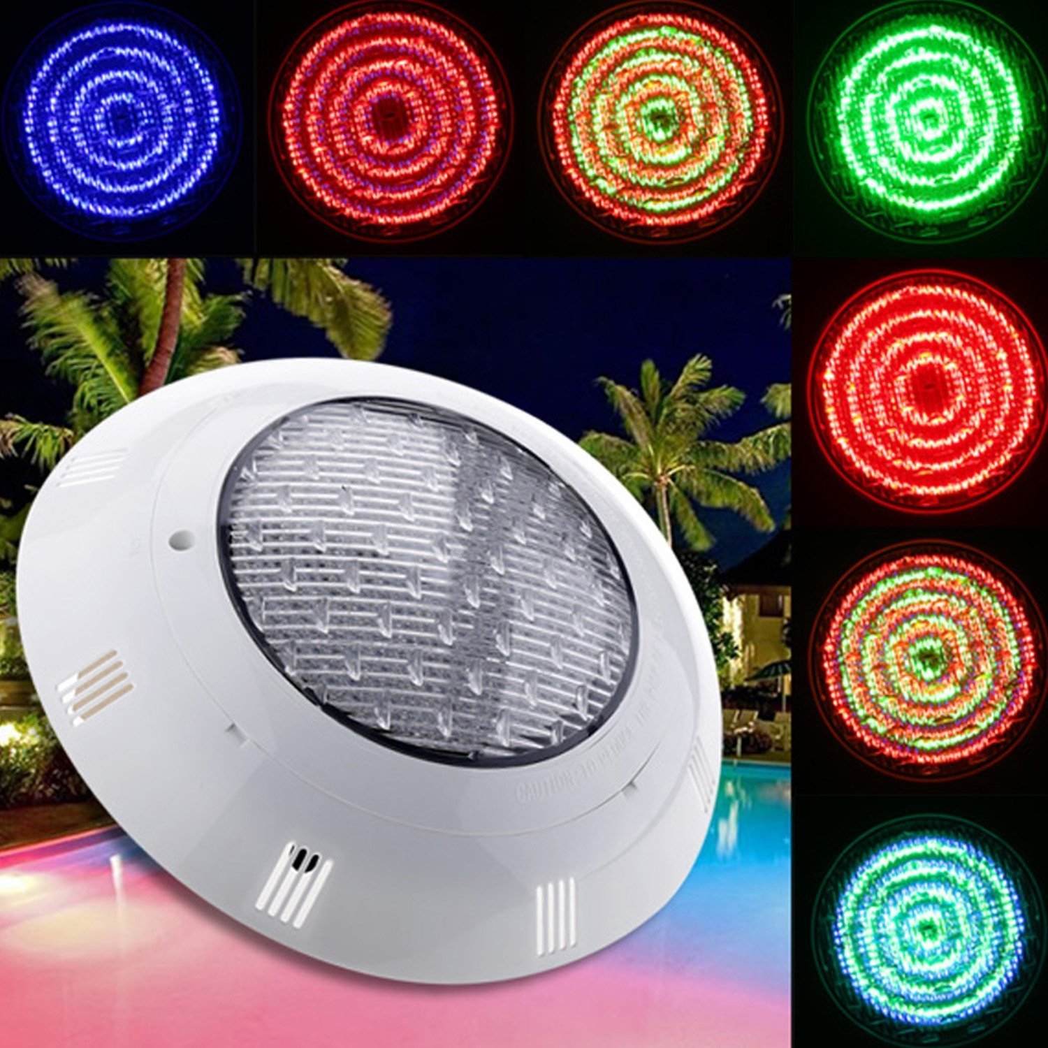 evokem 7 Colors Changing Pool Led Lights Underwater with 558 LED, Swimming Pool Light Fountains Lamp with Remote Control (12V 33W)