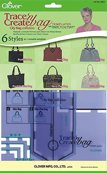 Amazon.com: Clover Trace and Create Bag Templates with Nancy Zieman ...
