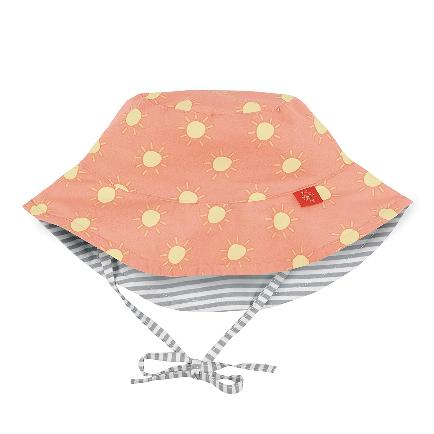 Lässig 1433005803 Baby Sun Protection Bucket Hat Sonnenhut, Size: Infant 6-18 Monate, orange Laessig GmbH 1433005803-18