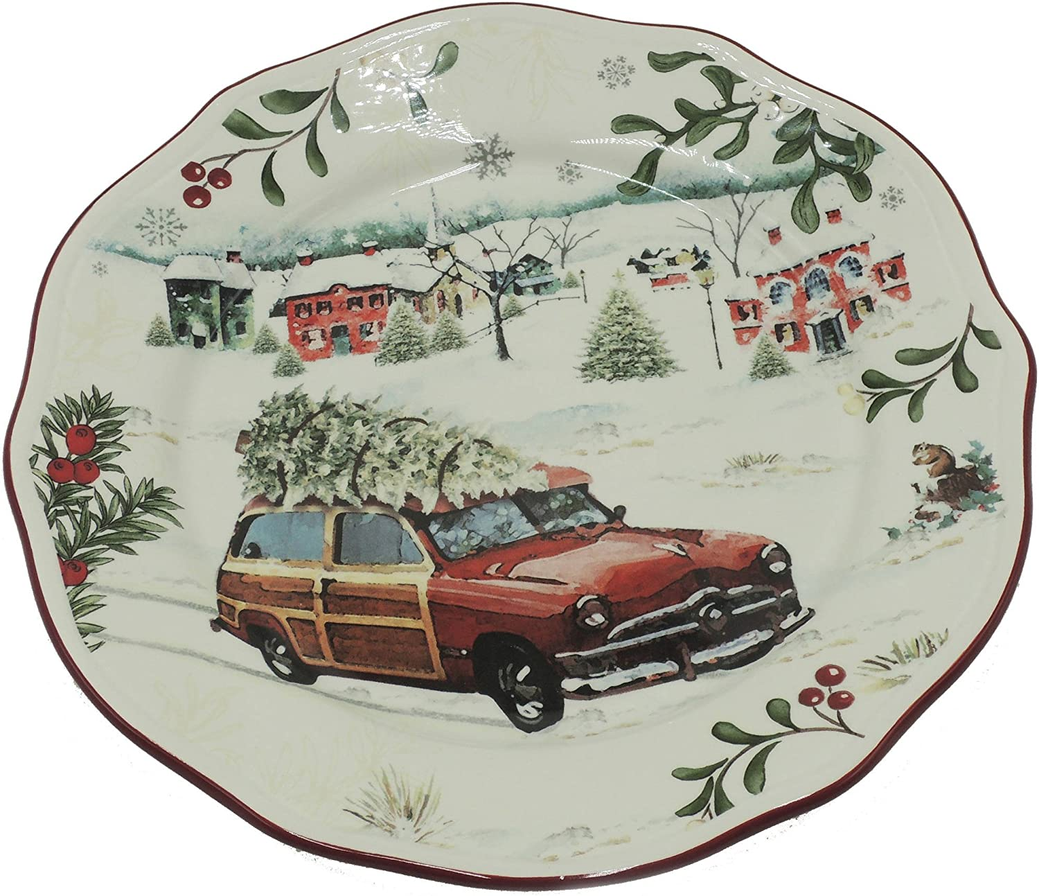 Better Homes and Gardens Christmas Car Salad Plate - Limited Edition