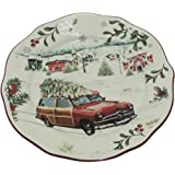 2016 better homes and gardens christmas car salad plate limited edition
