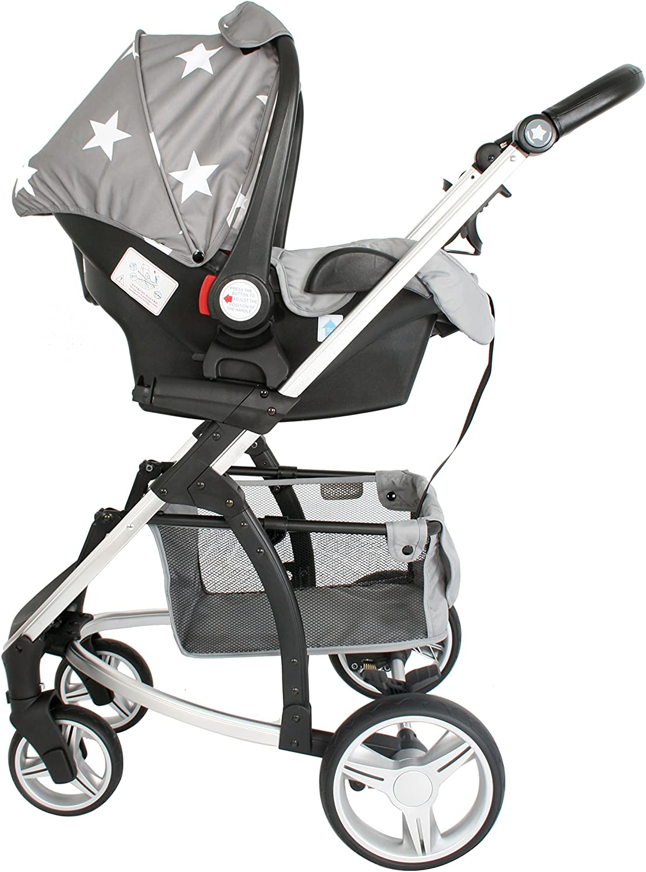 Grey Stars Travel System My Babiie Billie Faiers MB200