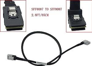 "(2.3FT) Right Angle Mini SAS SFF-8087 9240 9270 to 3.5"" BP Mini SAS SFF-8087 Cable for Lenovo Compatible 00FC240"