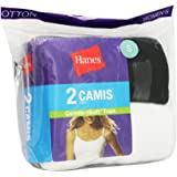 Black and White Hanes 2 Pack Women's Camis (Size Medium)