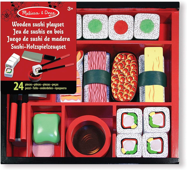 Melissa & Doug - Juego de Madera para rebanar Sushi (12608): Amazon.es: Juguetes y juegos