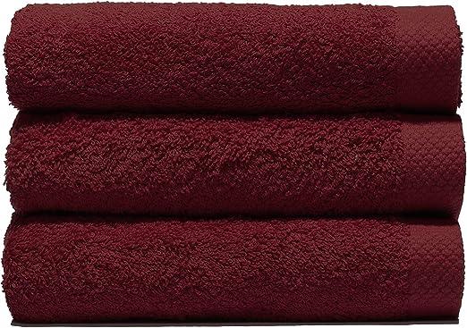 Lasa Juego Toallas, algodón 100%, Burdeos, Ducha (70 x 140 cm ...