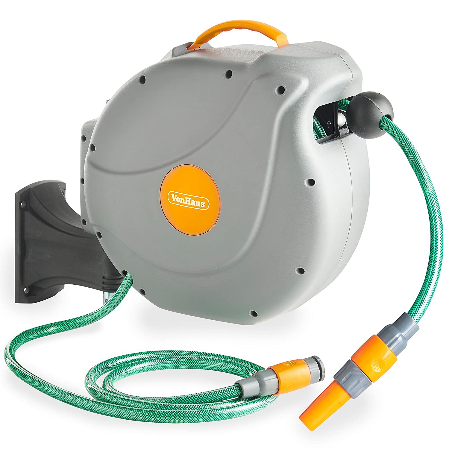 Exceptionnel VonHaus 20M Garden Hose   Auto Rewind Wall Mounted Reel: Amazon.co.uk:  Garden U0026 Outdoors