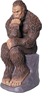 Bella Haus Design Bigfoot Thinker Garden Statue Yeti Decorative, Sasquatch Sculpture for Patio, Deck, Office, Outdoor- Full-Color Resin