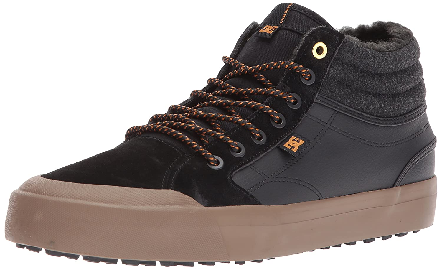 DC Men's Evan Smith HI Wnt Skate Shoe B06Y5LL86X 12 D D US|Black/Black/Gum