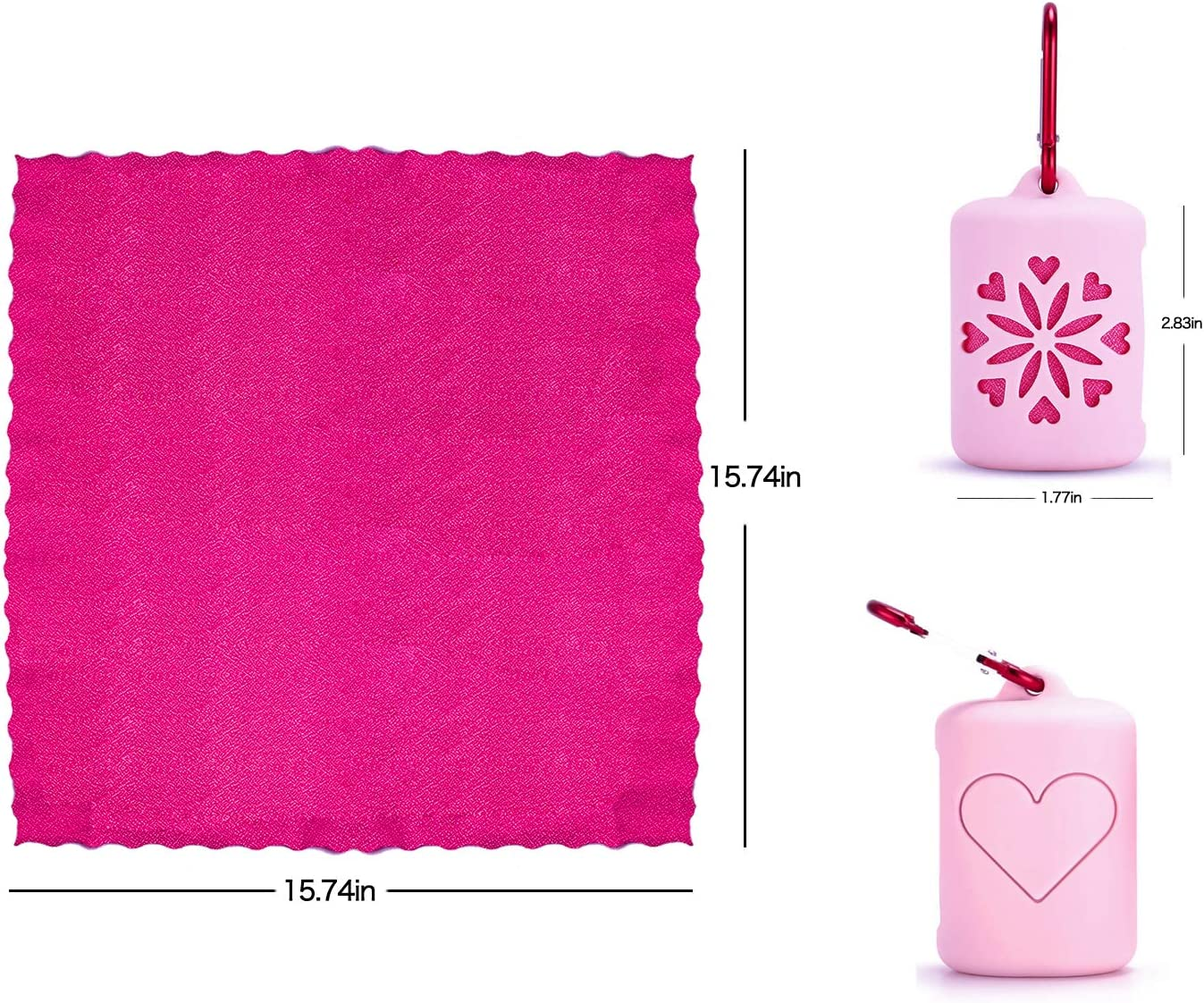 WEE Fast Dry Towel Absorbent Ultra Yoga Spa Etc Compact Microfiber Sports Travel Bath Towels Quick Dry Towel Mini Lightweight for Camping Beach