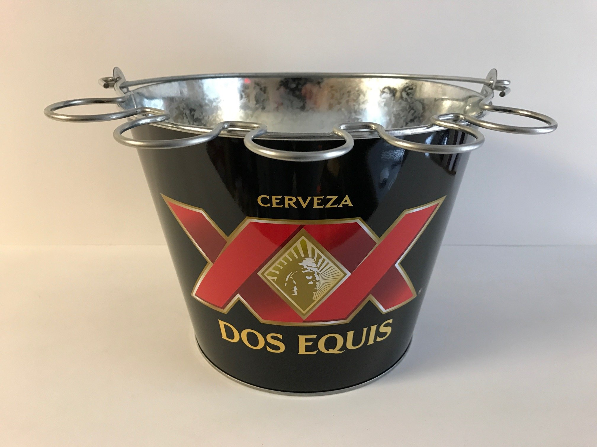 Dos Equis Ice Bucket with Shot Glass Holder