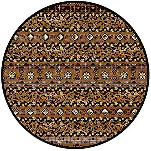 Alfombra redonda de estampación, Yoga, Mandala ornamental ...