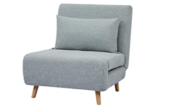 Amazon.com: GIA SF10-BLU_VC sofá cama plegable, Espuma ...