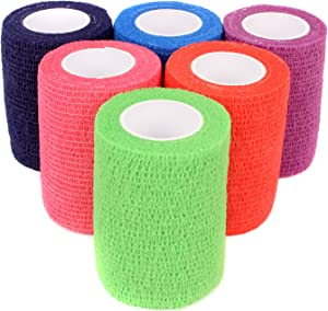 "Ever Ready First Aid Self Adherent Cohesive Bandages 3"" x 5 Yards - 12 Count, Rainbow Colors"