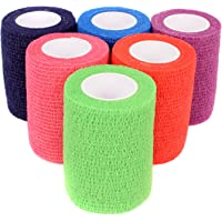 """Ever Ready First Aid Self Adherent Cohesive Bandages 3"""" x 5 Yards - 6 Count, Rainbow Colors"""