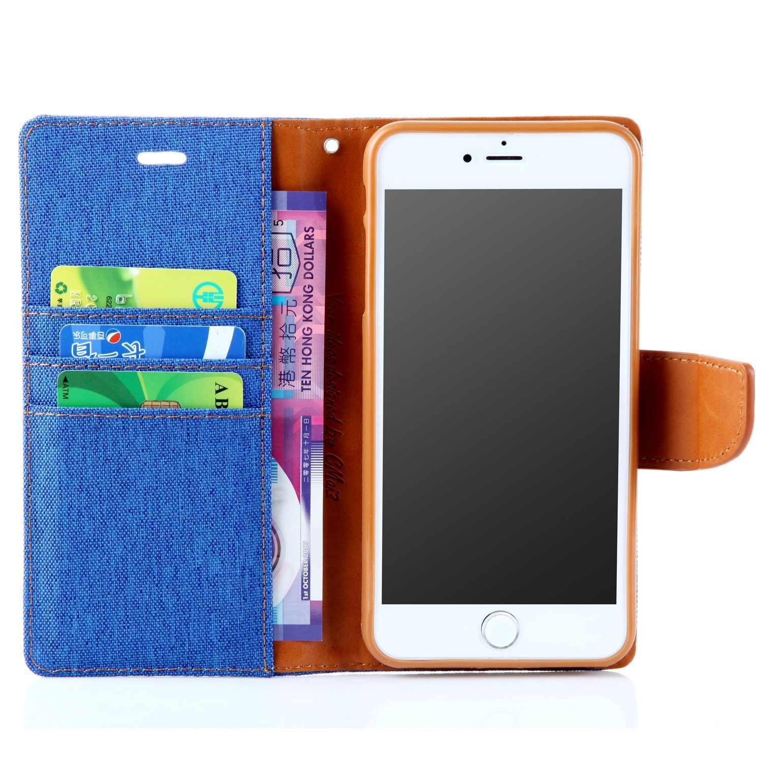 Canvas Diary For Iphone 8 Plus 7 Asd69 Cases Goospery Case Blue Holsters Sleeves Cell Phones Accessories Tibs
