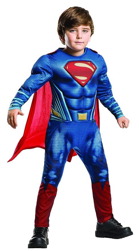6b9d01a05 Rubies Superman - Disfraz Batman v Superman para niños, talla M, edad 5-6  años (Altura 116cm / Cintura 53cm): Amazon.es: Juguetes y juegos