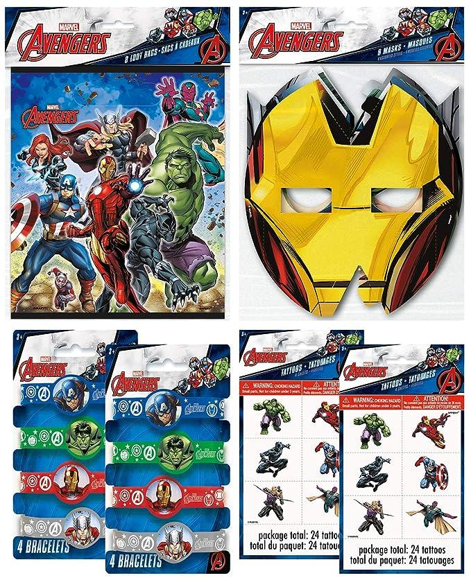 Marvel Avengers suministros para fiesta de cumpleaños paquete con ...