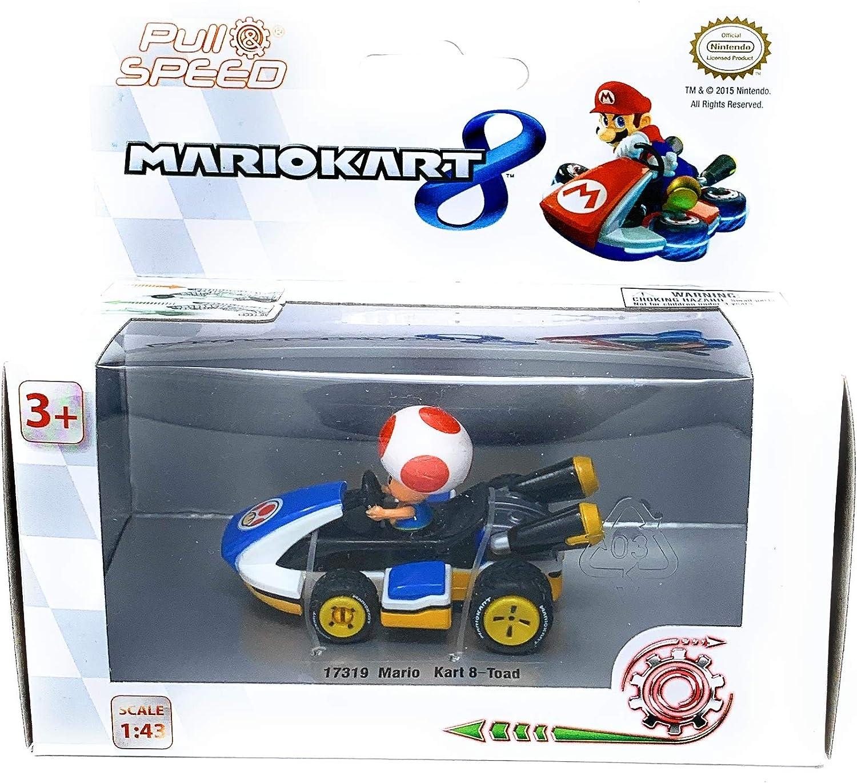 Caja Coche Pull Speed Mario Kart 8 Nintendo Toad: Amazon.es: Juguetes y juegos