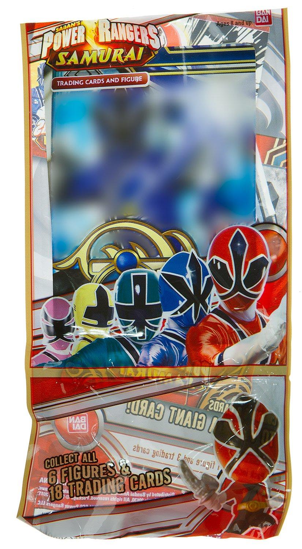 3 Trading Card Yellow Samurai Ranger ~1.3 Mini-Figure Power Rangers Samurai Trading Figure Card Series