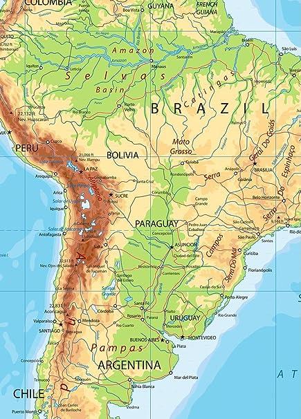 Amazon.com: Wall Art Impressions Quality Prints - Laminated ... on central america map quiz, canada quiz, latin american culture trivia, asia quiz, map skills quiz, map of north america quiz, lesser antilles quiz, spanish countries quiz, general knowledge quiz, south america map quiz, india quiz, venezuela quiz, western hemisphere quiz, south america countries quiz, europe quiz,