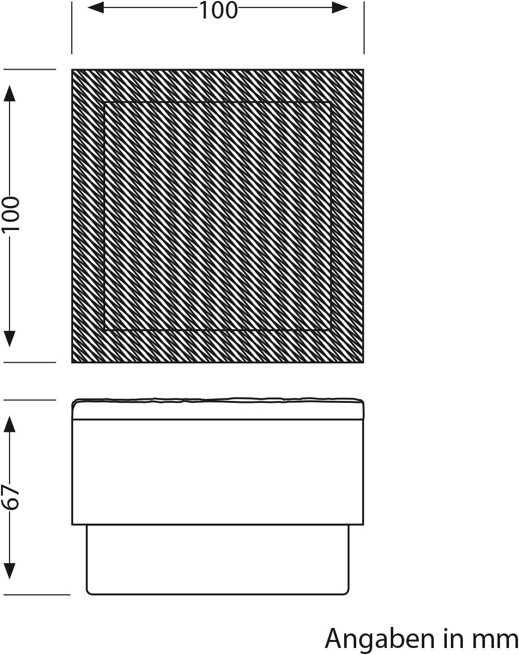 ledscom.de LED pavé Gorgon luminaire encastrable dans Le Sol pour l\'extérieur, 10x10cm, 12V, Blanche-Chaude Lot de 4 Individuel (Sans Ballast)