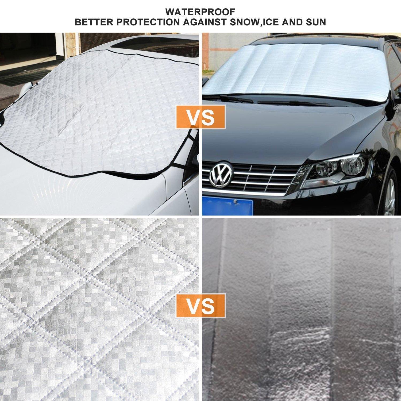 protege de hielo Parasol parabrisas Funni protector parabrisas hielo cubre parabrisas magn/ético anti ara/ñazos nieve viento y lluvia material resistente a la intemperie