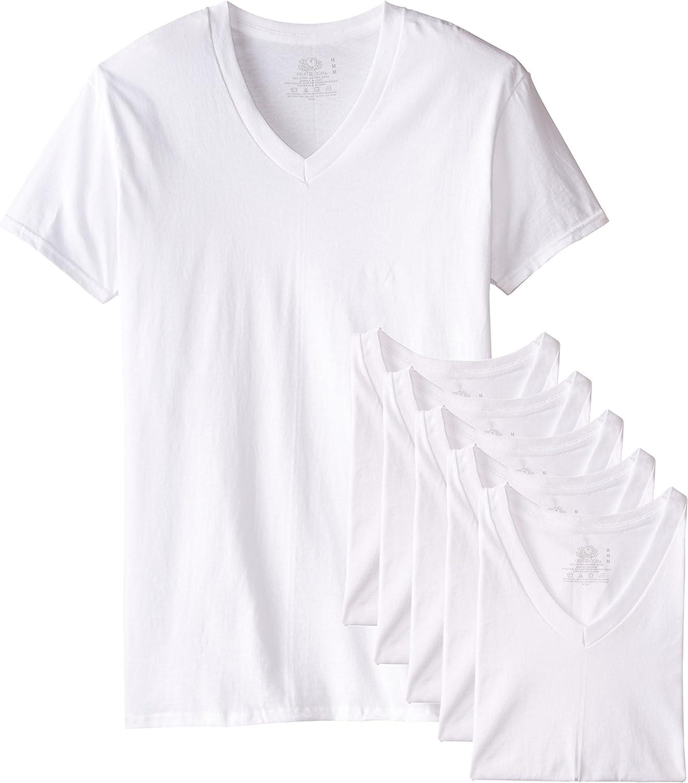 TALLA XL. Fruit of the Loom Stay Tucked Camiseta con Cuello en V para Hombre