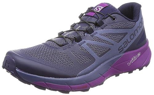 af7d42b39802 Salomon Sense Ride Trail Running Shoe - Women s Evening Blue Crown  Blue Grape Juice 5  Amazon.in  Shoes   Handbags