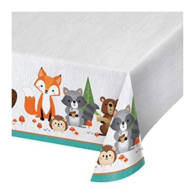 Wild One Woodland Plastic Tablecloths, 3 ct: Health & Personal Care