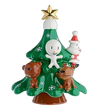 Alessi Porcelain Hand Decorated QuotXmas Friendsquot Christmas Ornament