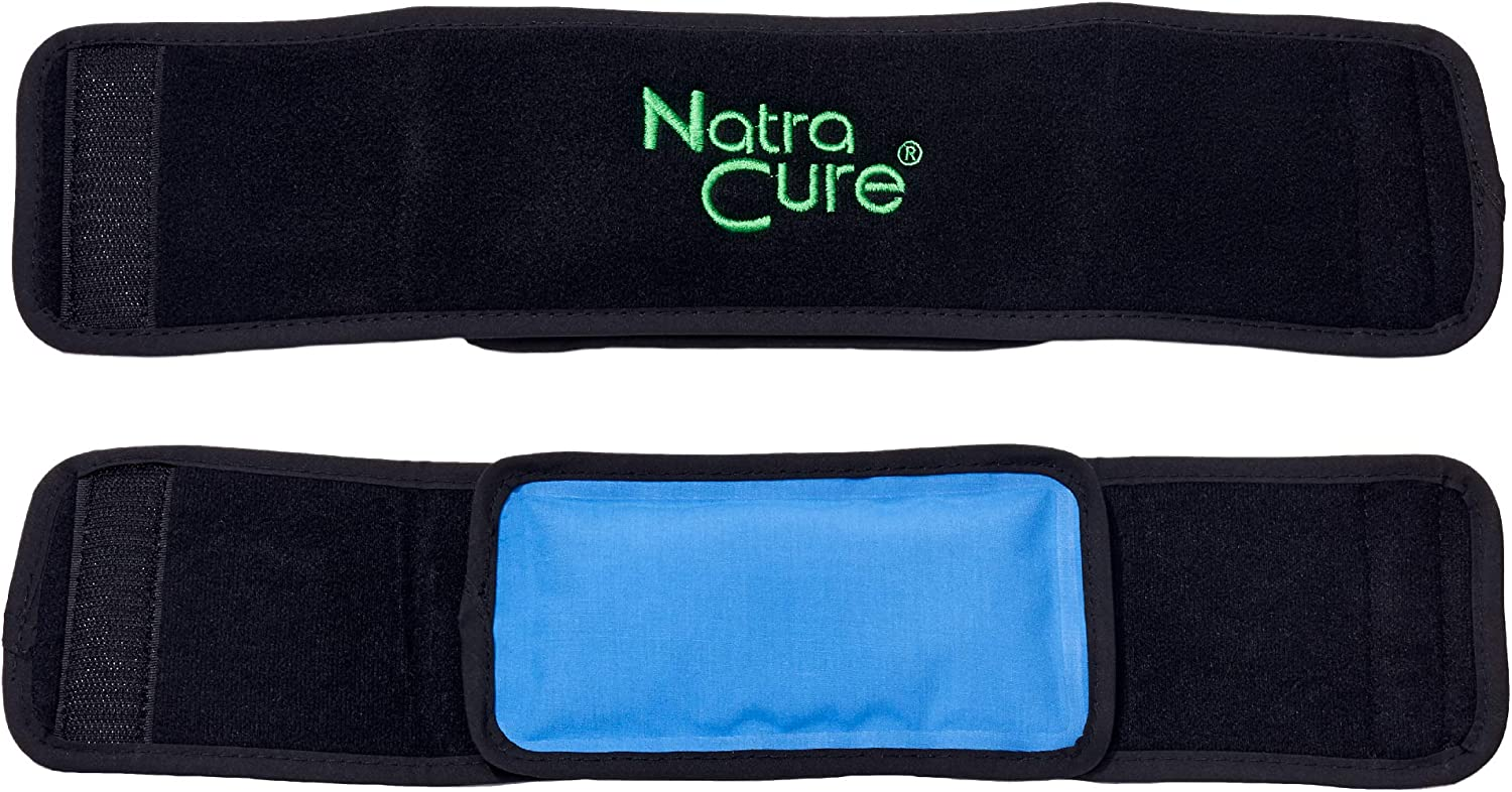 "NatraCure Cold Therapy Wrap w/ 20"" Strap - 2 Pack (Small Reusable Gel Ice Pack Compress for Injuries and Pain Relief, Hand, Arch of Foot, Wrist, Elbow, Arthritis, Neuropathy) - 715-20 CAT2PK: Health & Personal Care"
