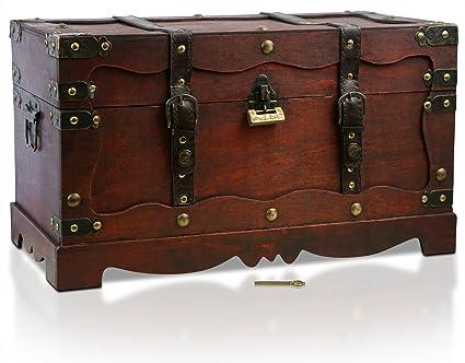 Baule Legno Fai Da Te : Brynnberg scrigno del tesoro con lucchetto vintage bauletto stile