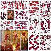 Halcyerdu 12 Pcs Halloween Bloody Stickers, Halloween Decoratie, Bloody Window Stickers, voor Halloween Party